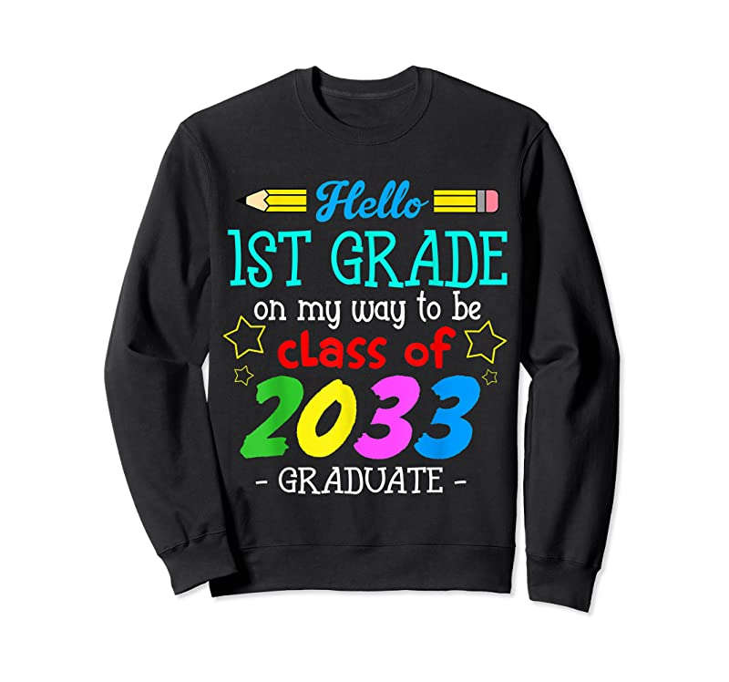 Best Back To School First Day Of First Grade Hello 1st Grade Kids T Shirts