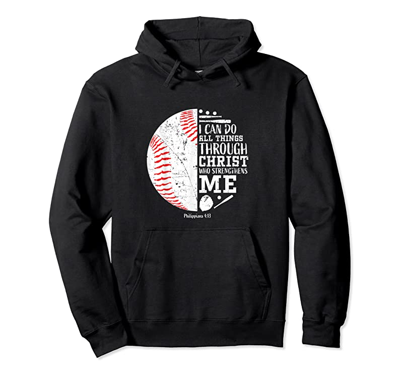 Best Christian Baseball I Can Do All Things Religious Verse Gifts T Shirts