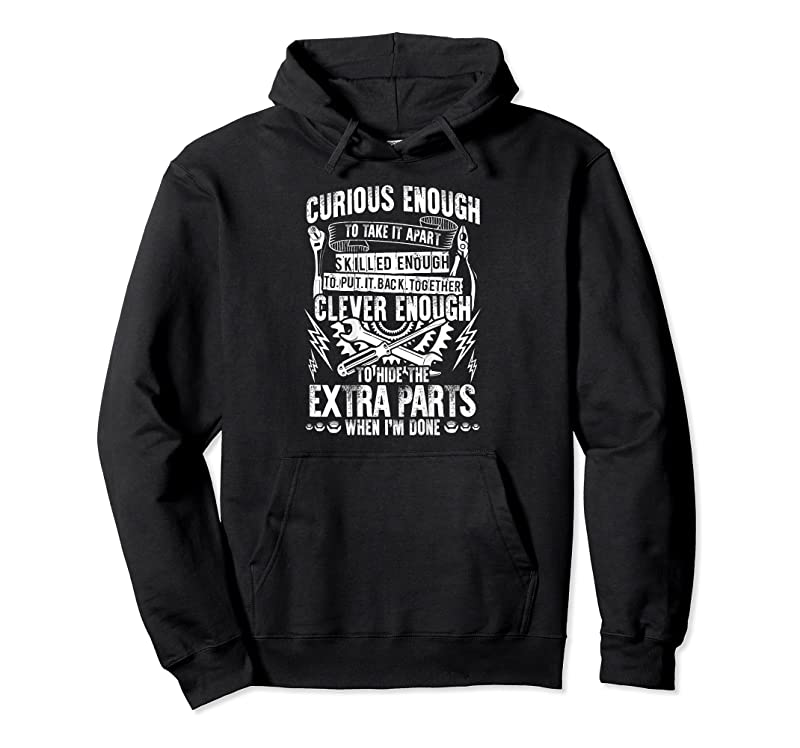 Best Curious Skilled And Clever Funny Car Auto Truck Mechanic T Shirts