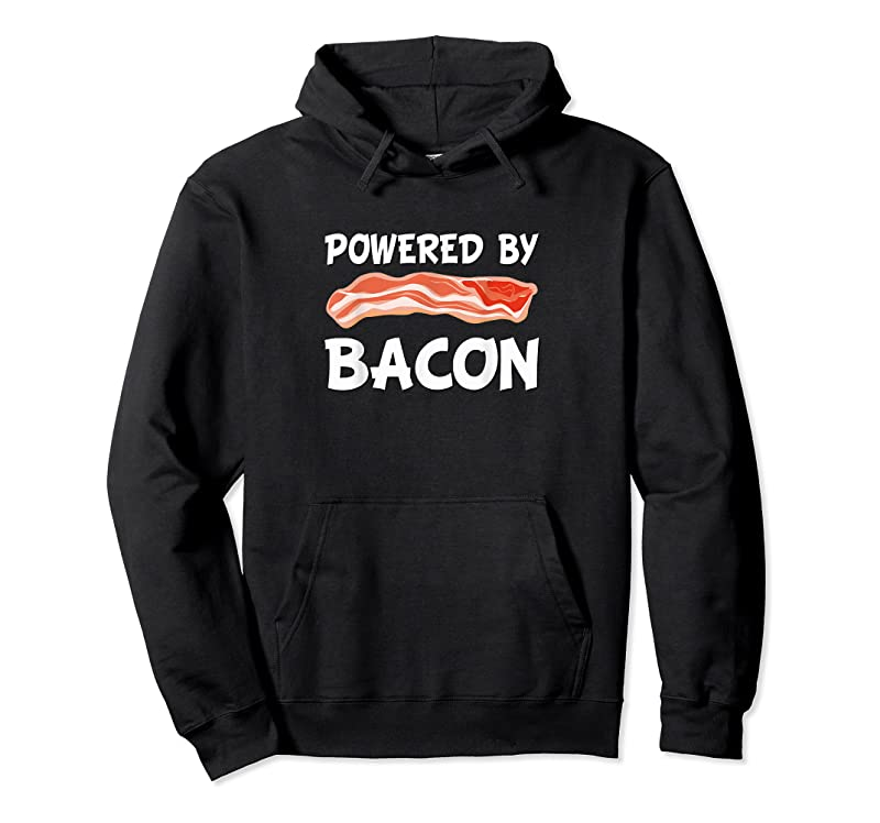 Best Funny Powered By Bacon Bacon Lovers Gift T Shirts