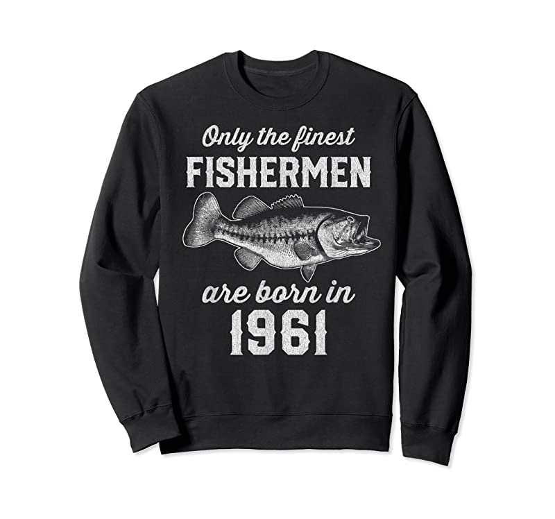 Best Gift For 60 Year Old Fishing Fisherman 1961 60th Birthday T Shirts