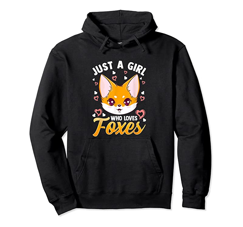Best Just A Girl Who Loves Foxes Kids Girls Cute Fox Gift Mom T Shirts