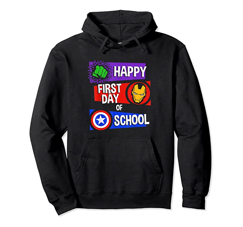 Best Marvel Avengers Happy First Day Of School Text T Shirts