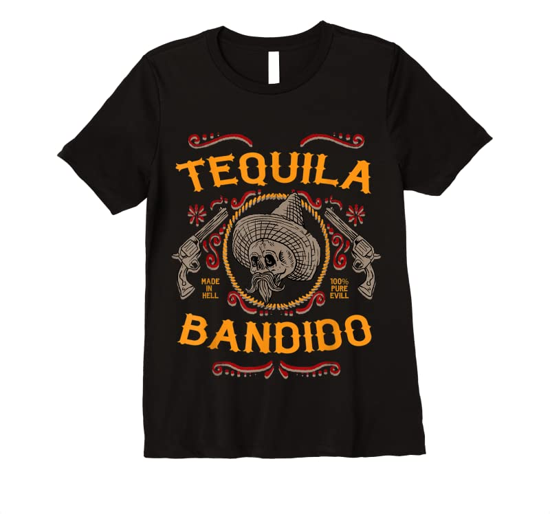 Best Mexican Skull Tequila Bandito Cool Skeleton Charro Gift Idea T Shirts