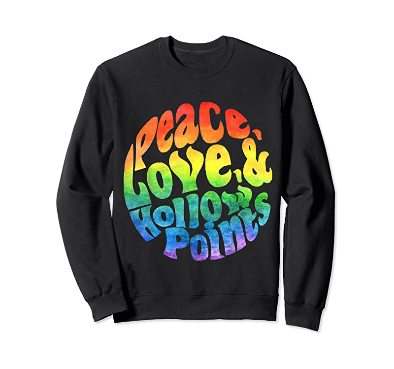 Best Peace Love And Hollow Points Watercolor T Shirts