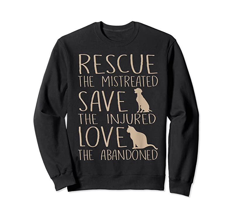 Best Rescue Save Love Cute Animal Rescue Dog Cat Lovers T Shirts