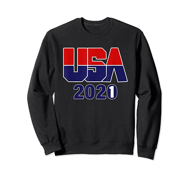 Cool 2021 Usa Athletes Wearing The Red White And Blue T Shirts