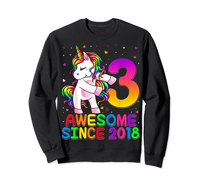 Cool 3 Years Old Unicorn Flossing 3rd Birthday Girl Unicorn Party T Shirts