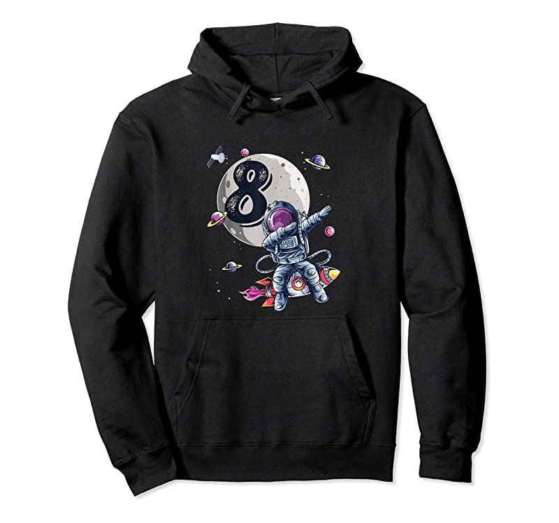 Cool 8 Years Old Birthday Boy Astronaut Gifts Space 8th B Day T Shirts