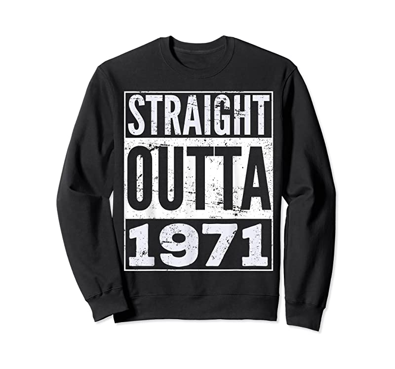 Cool Adult Straight Outta 1971 Funny Birthday T Shirts