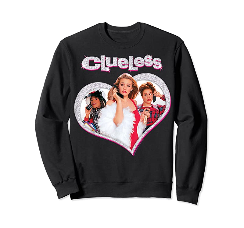 Cool Clueless Cher's Trio Sparkle Heart Poster Graphic T Shirts