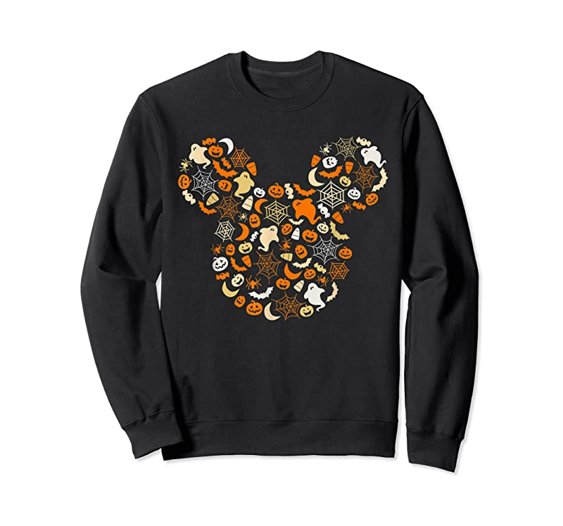 Cool Disney Mickey Mouse Halloween Ghosts Pumpkins Spiders T Shirts