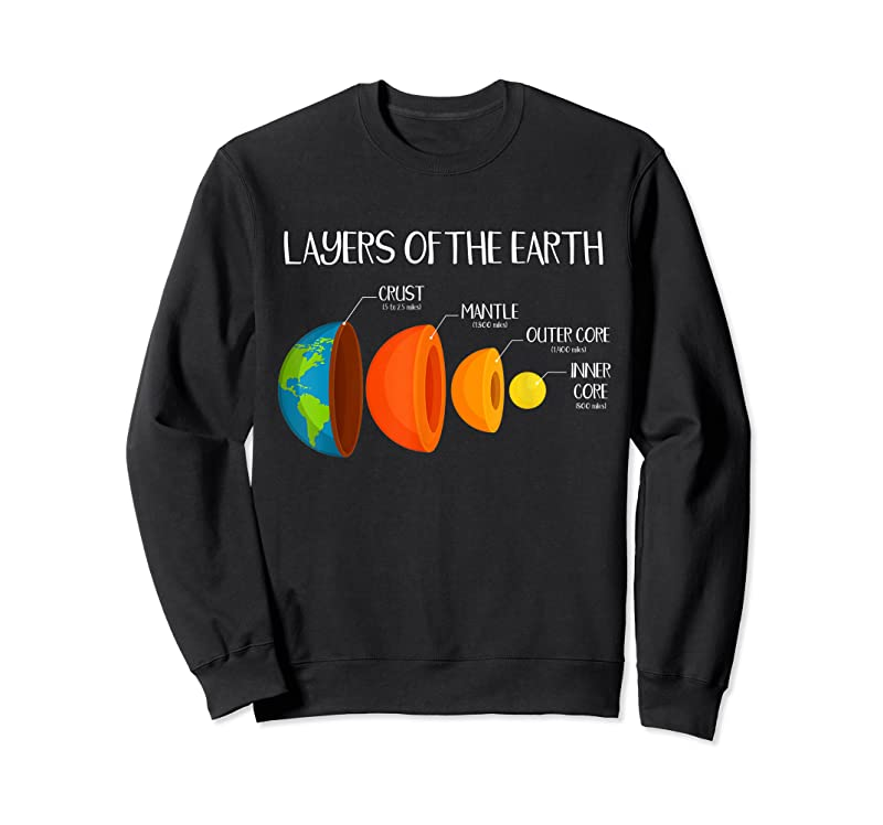 Cool Earth's Crust Layers Of The Earth Geology Science Nerd Gift T Shirts