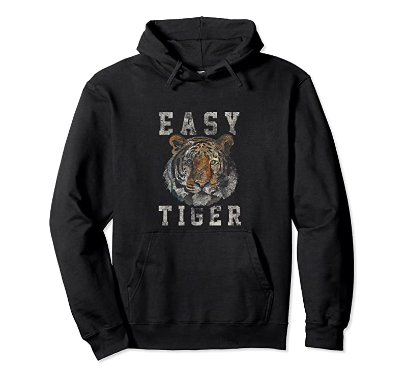Cool Easy Tiger Distressed Casual Chic Graphic For Women T Shirts