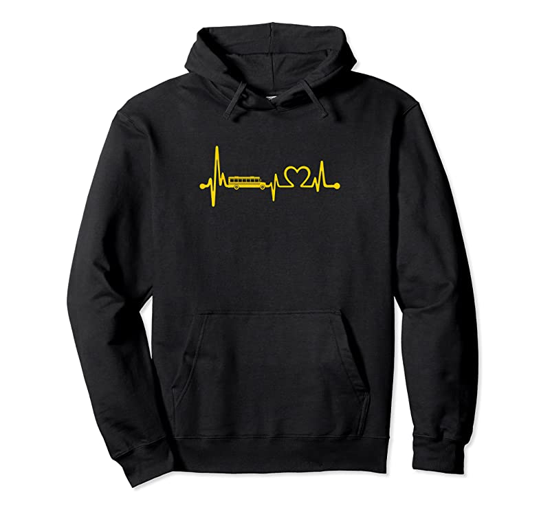 Cool Funny School Bus Driver Gift Love School Bus Heartbeat T Shirts