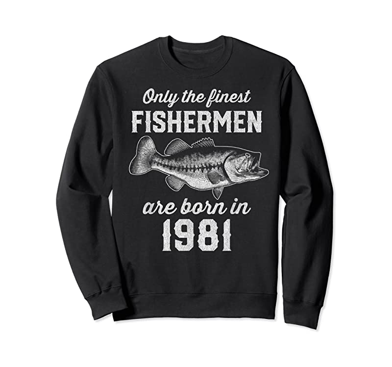 Cool Gift For 40 Year Old Fishing Fisherman 1981 40th Birthday T Shirts