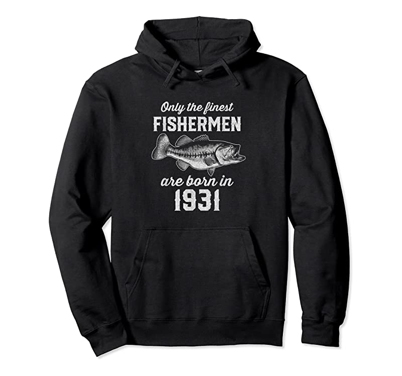 Cool Gift For 90 Year Old Fishing Fisherman 1931 90th Birthday T Shirts