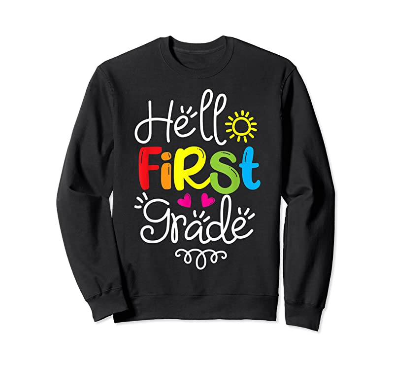 Cool Hello First Grade Fun 1st Grade Back To School Gift T Shirts