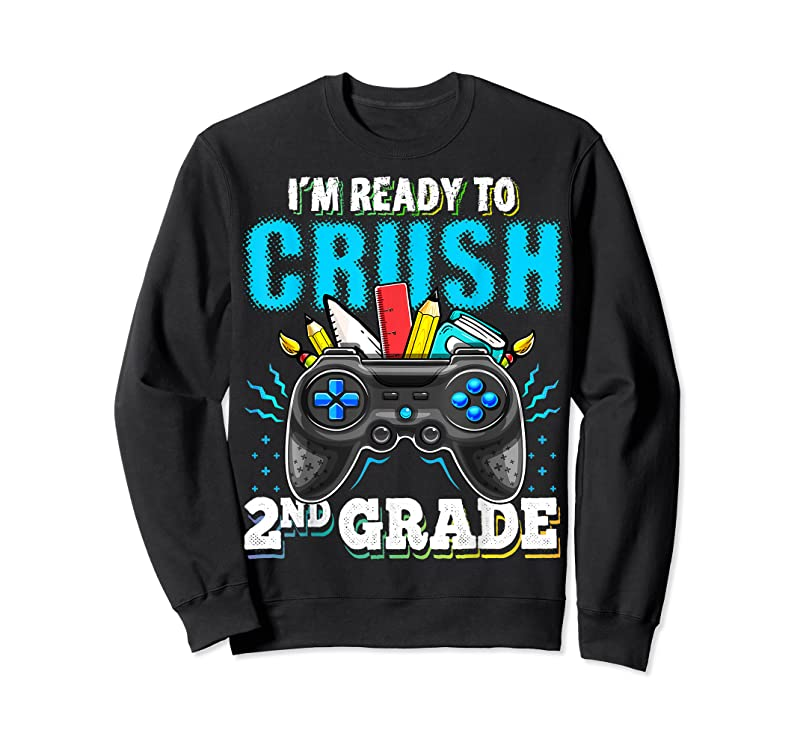 Cool I'm Ready To Crush 2nd Grade Back To School Video Game Boys T Shirts