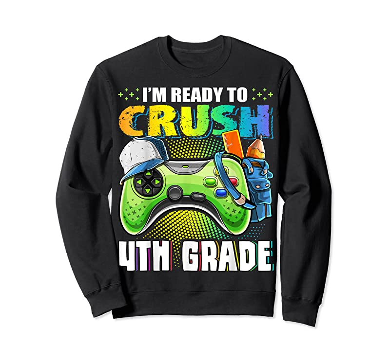 Cool I'm Ready To Crush 4th Grade Back To School Video Game Boys T Shirts