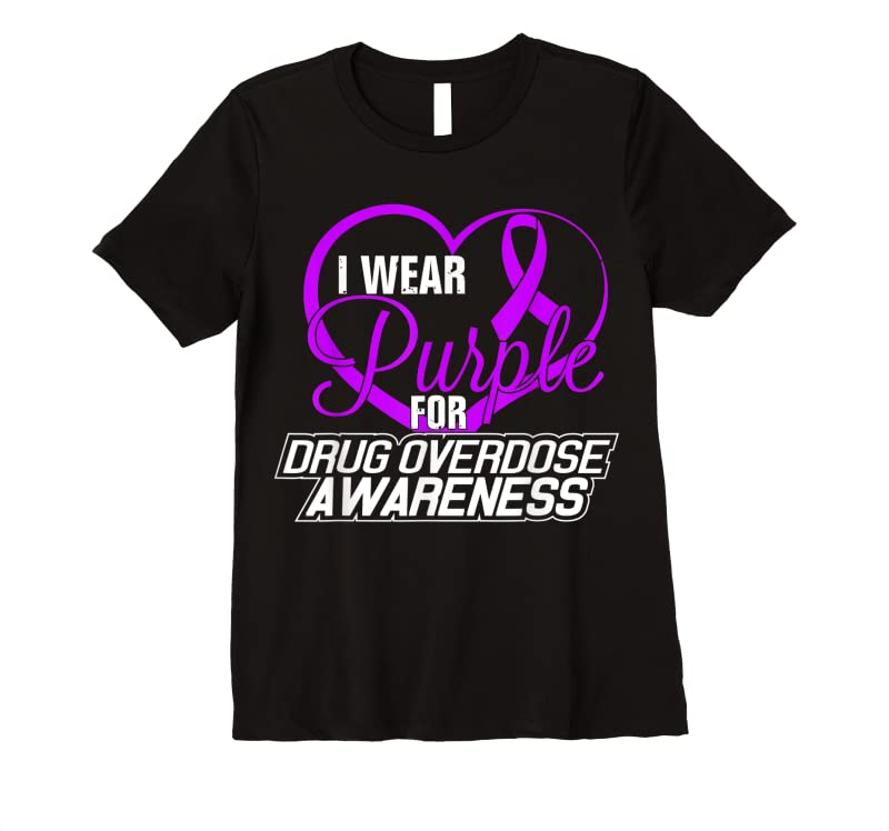 Cool I Wear Purple For Drug Overdose Awareness Tee T Shirts