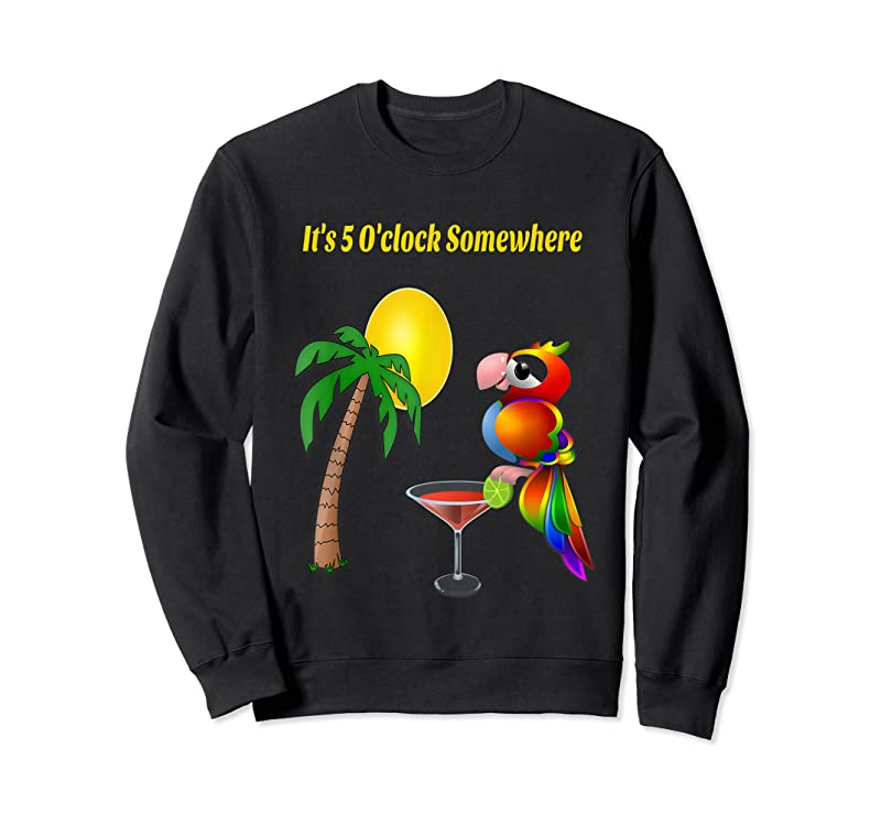 Cool It's 5 O'clock Somewhere Drinking Parrot T Shirts