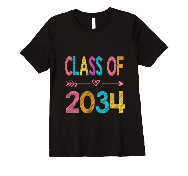 Cool Kindergarten 2021 Class Of 2034 Grow With Me T Shirts