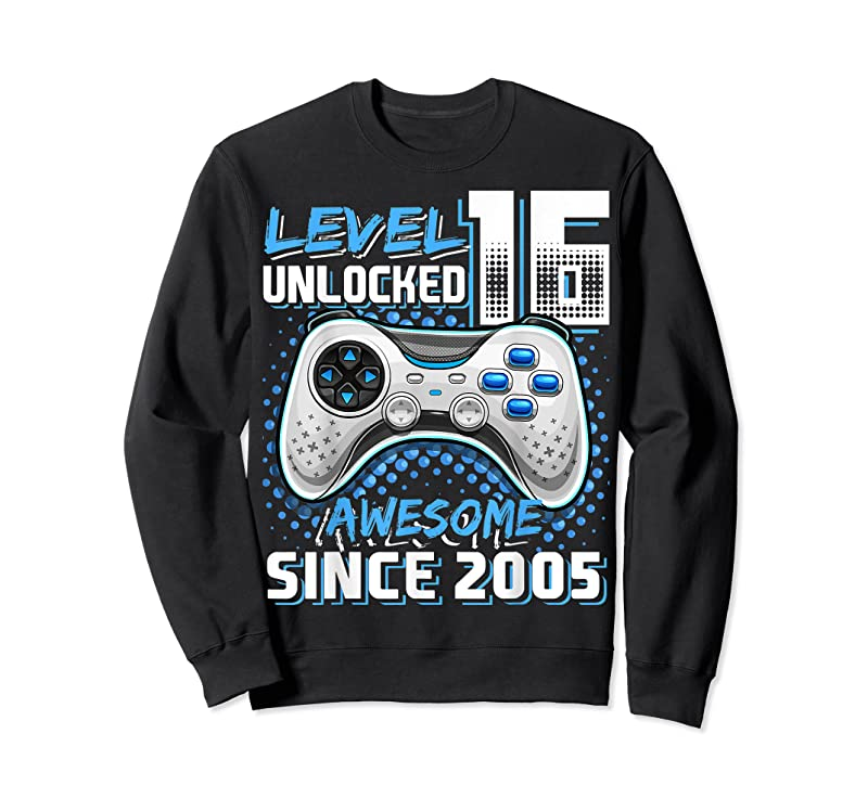 Cool Level 16 Unlocked Awesome 2005 Video Game 16th Birthday Gift T Shirts