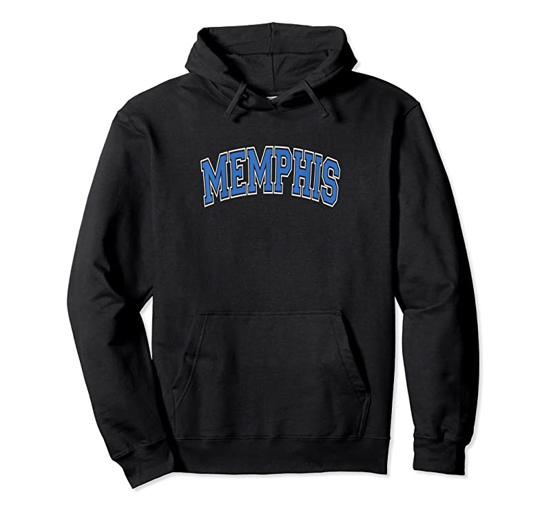Cool Memphis Tennessee Tn Varsity Style Blue Text T Shirts