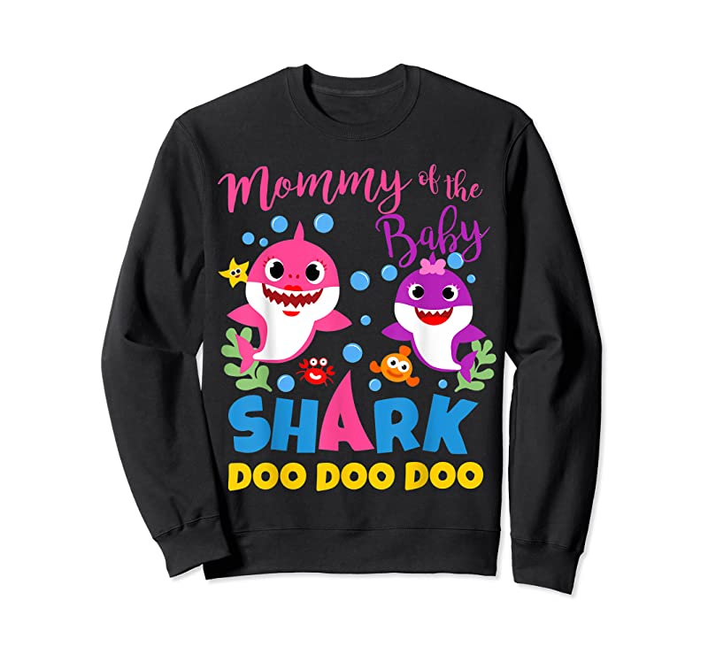 Cool Mommy Of The Baby Shark Girl Pink Purple Family Gift Doo T Shirts