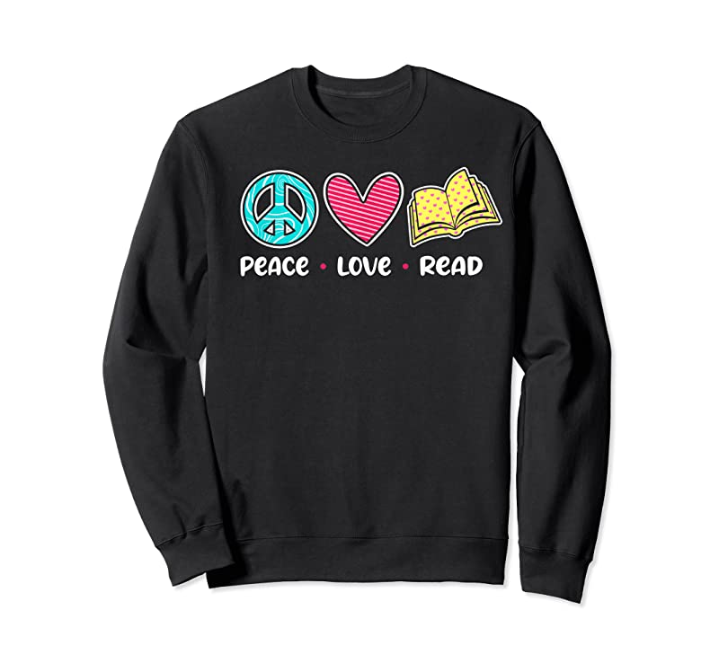 Cool Peace Love Read Book Lover Reading Bookworm Library T Shirts