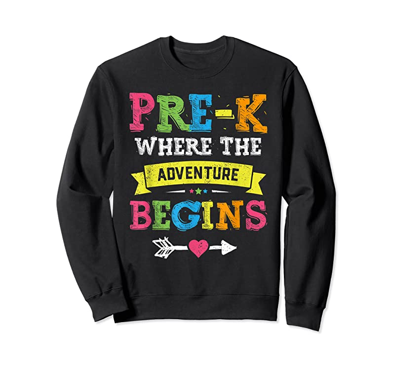 Cool Pre K Where The Adventure Begins Gift Back To School Teacher T Shirts