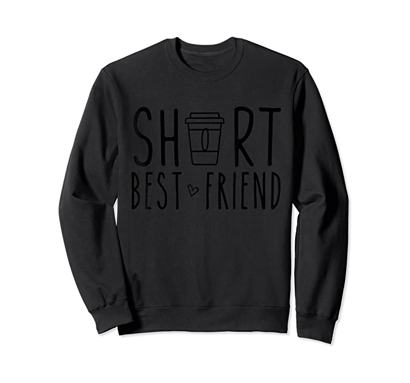 Cool Short Best Friend Funny Coffee Matching Bff Outfit 2 Bestie T Shirts
