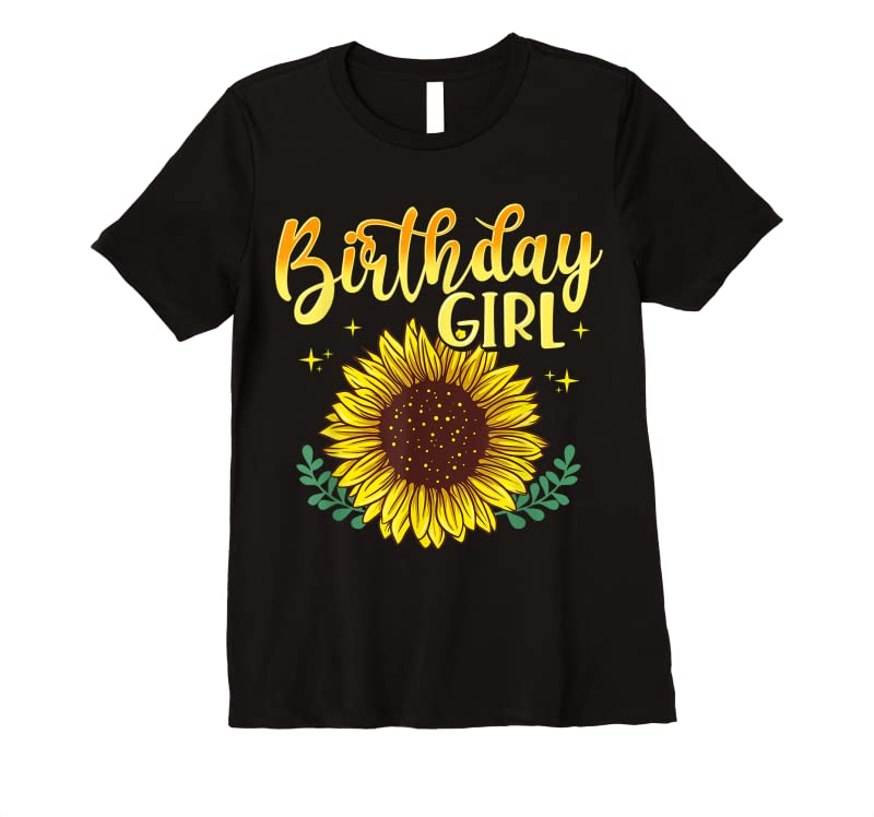 Cool Sunflower Birthday Girl Party Family Matching T Shirts