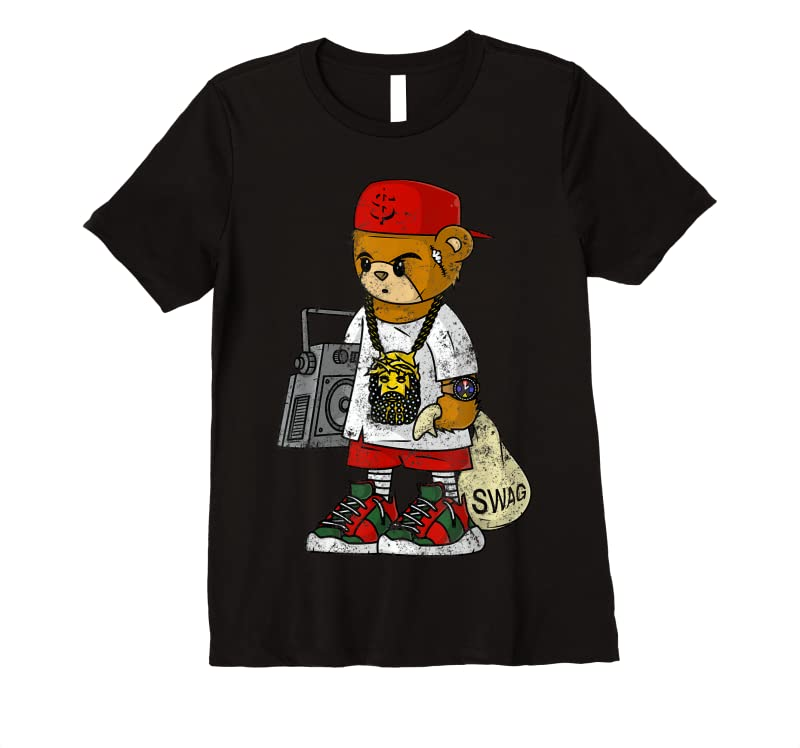 Cool Teddy Bear Rap Hip Hop Lover Clothing Men Hipster Dope Gift T Shirts