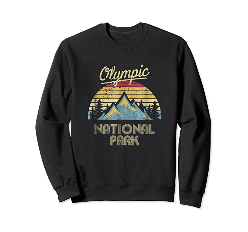 Cool Vintage Retro Olympic National Park Mountain T Shirts