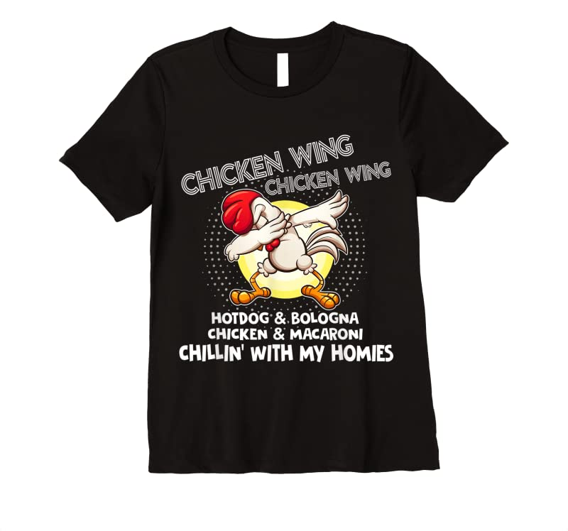 Cool Viral Chicken Wing Chicken Wing Hot Dog Bologna Song Lyric T Shirts