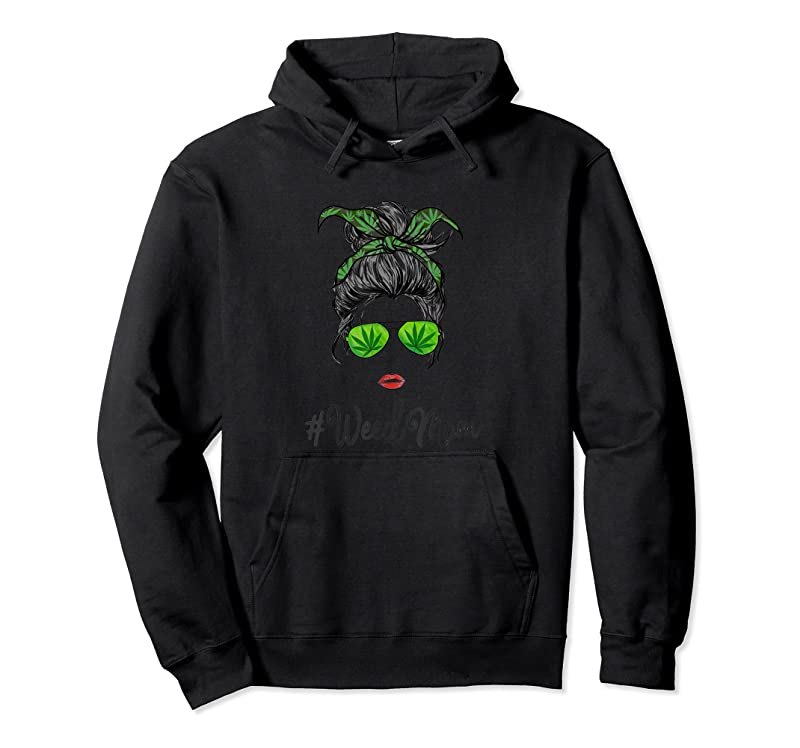 Cool Womens Classy Mom Life With Leopard Mom Marijuana Weed Lover T Shirts
