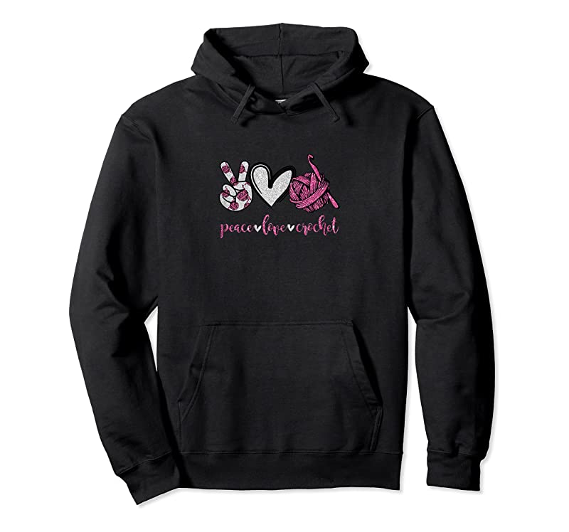 Cool Womens Peace Love Crochet Funny Crocheting Lover Gift T Shirts