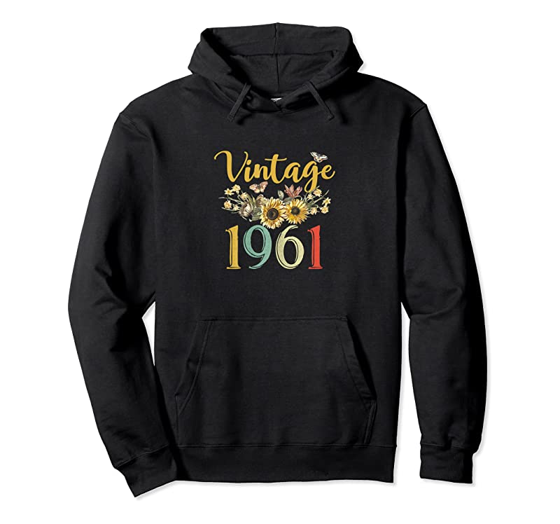 Cool Womens Vintage 1961 Sunflower 60th Birthday Awesome Since 1961 T Shirts