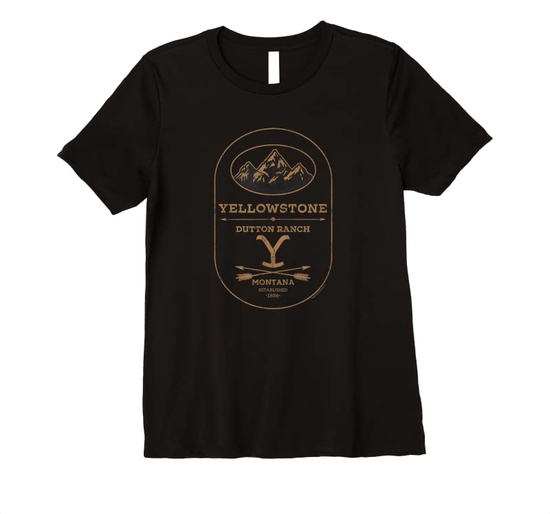 Cool Yellowstone Dutton Ranch Label T Shirts