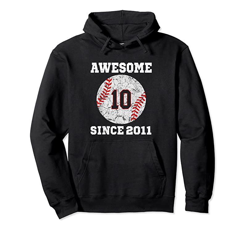 New 10th Birthday Baseball Lover Gift 10 Years Old Vintage Retro T Shirts