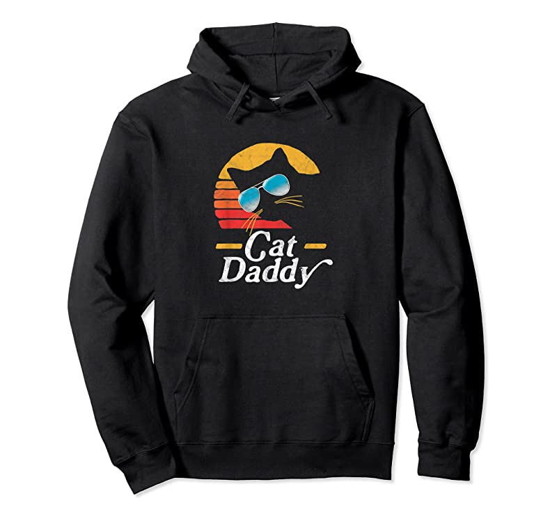 New Cat Daddy Vintage 80s Style Cat Retro Sunglasses Distressed T Shirts