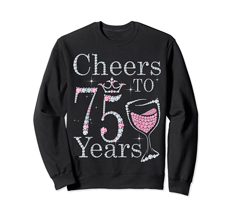 New Cheers To 75 Years 1946 75th Birthday Tee Gift For Womens T Shirts