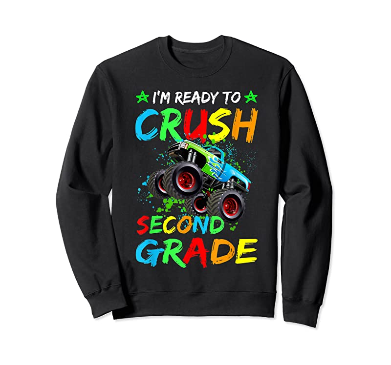 New I'm Ready To Crush 2nd Grade Monster Truck Back To School T Shirts