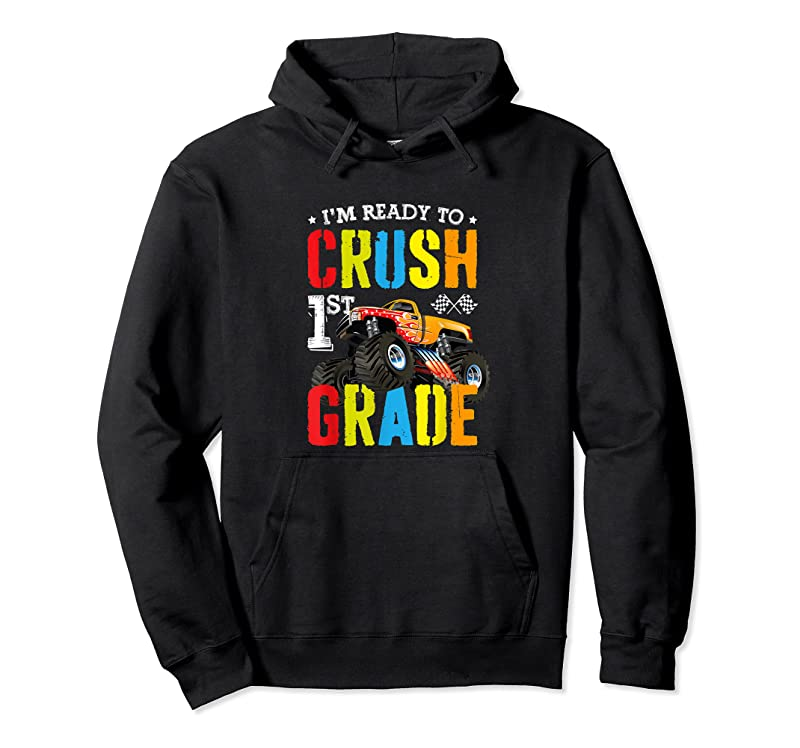 New Im Ready To Crush 1st Grade Boy Monster Truck Back To School T Shirts