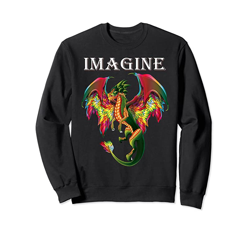 New Imagine Being A Dragon Breathing Fire Magical Wings Boys Men T Shirts
