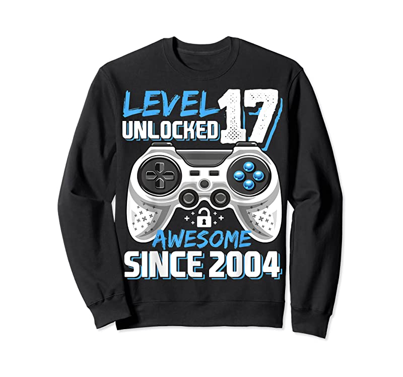 New Level 17 Unlocked Awesome 2004 Video Game 17th Birthday T Shirts