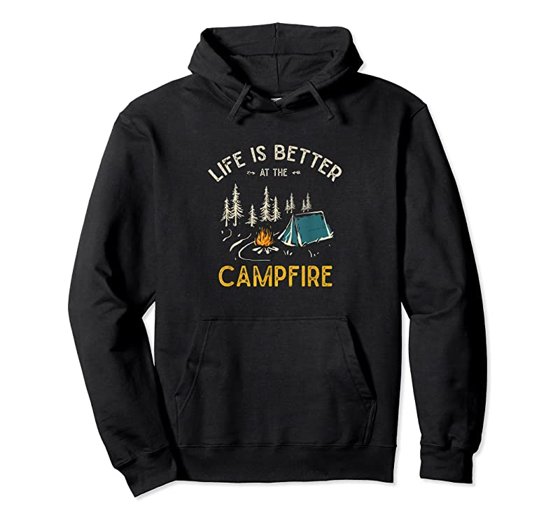 New Life Is Better At The Campfire Funny Camper Camp Camping T Shirts