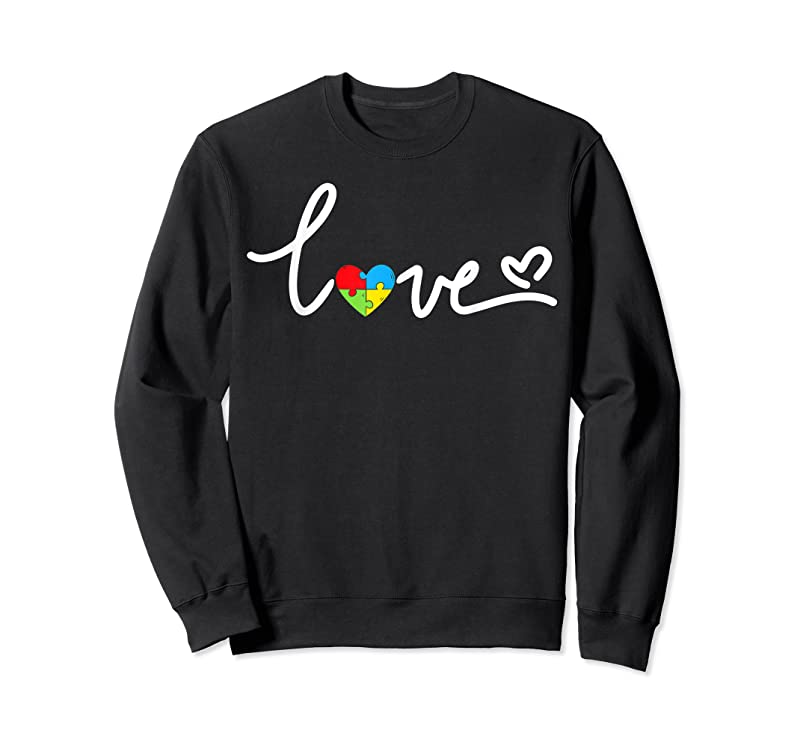 New Love Puzzle Pieces Heart Autism Awareness Gifts T Shirts